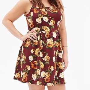 Forever 21+ floral fit & flare dress size 1X